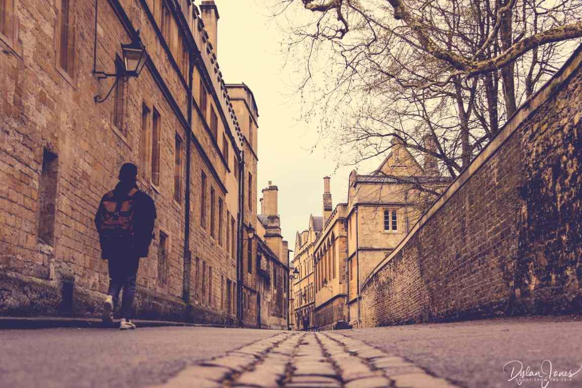 Looking down Brasenose Lane in Oxford