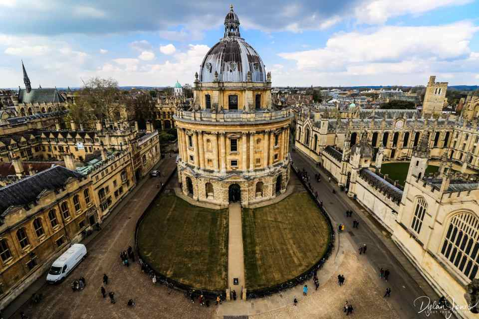 Views of the Radcliffe Camera from the church tower