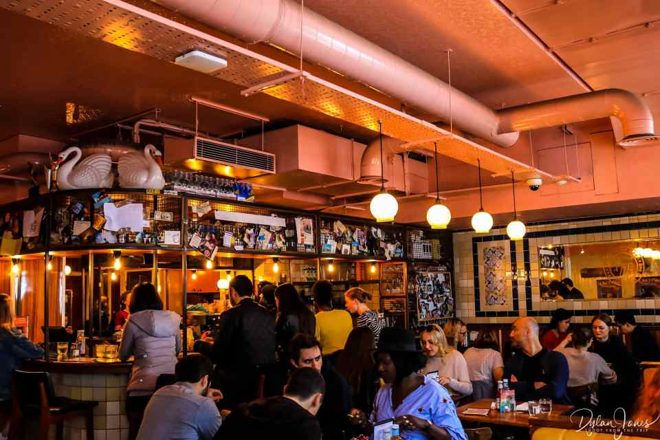 Interior of The Breakfast Club in the London Bridge area