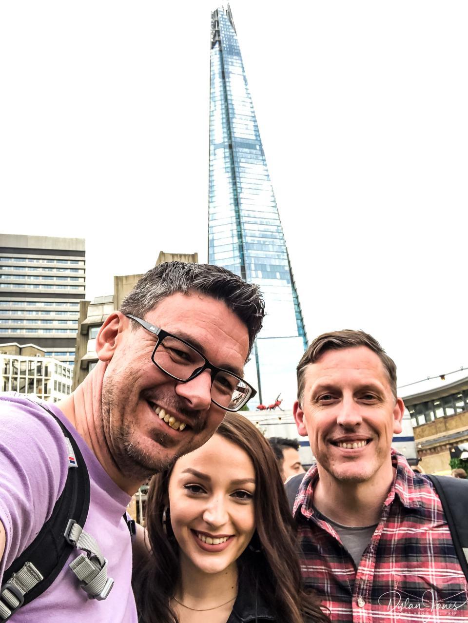 Obligatory Vinegar Yard selfie in front of The Shard