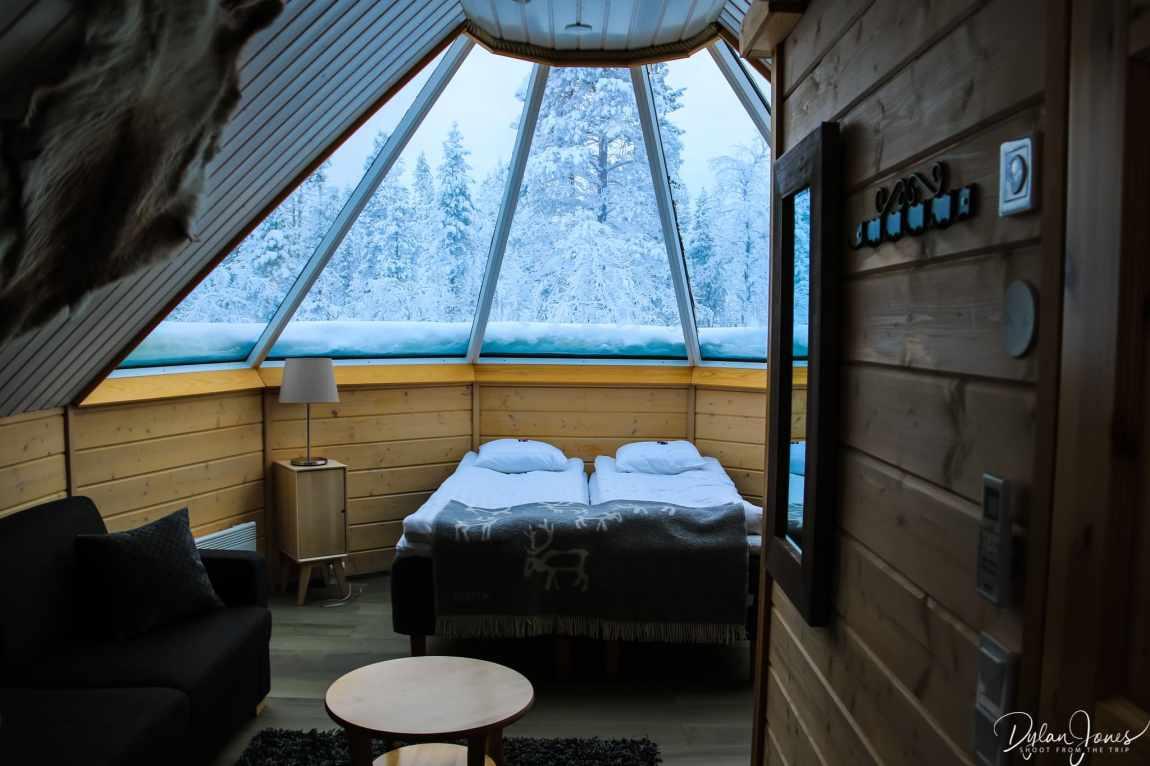 Interior of the Aurora Cabins at Northern Lights Village