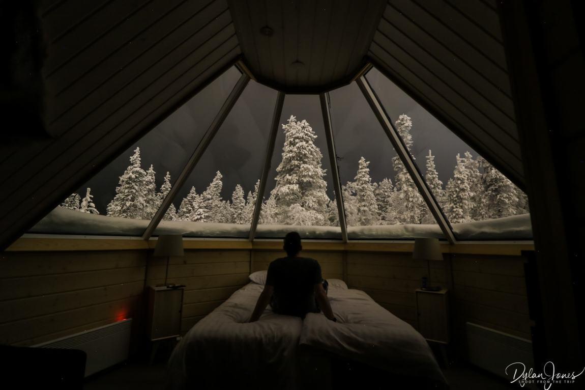 Interior shot of the Aurora Cabin at Northern Lights Village Saariselka