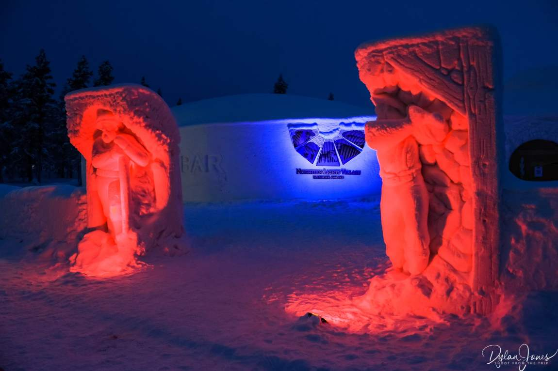Exterior of the Ice Bar and Restaurant