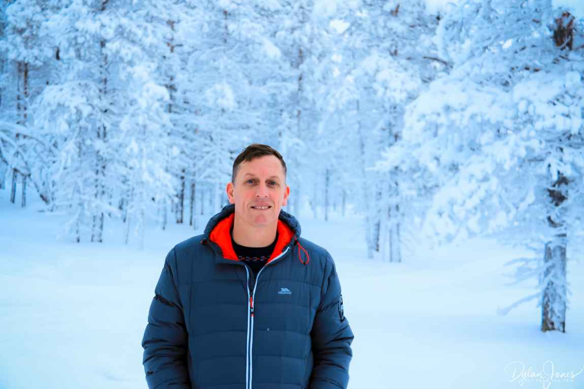 A portrait shot at the Northern Lights Village Saariselka