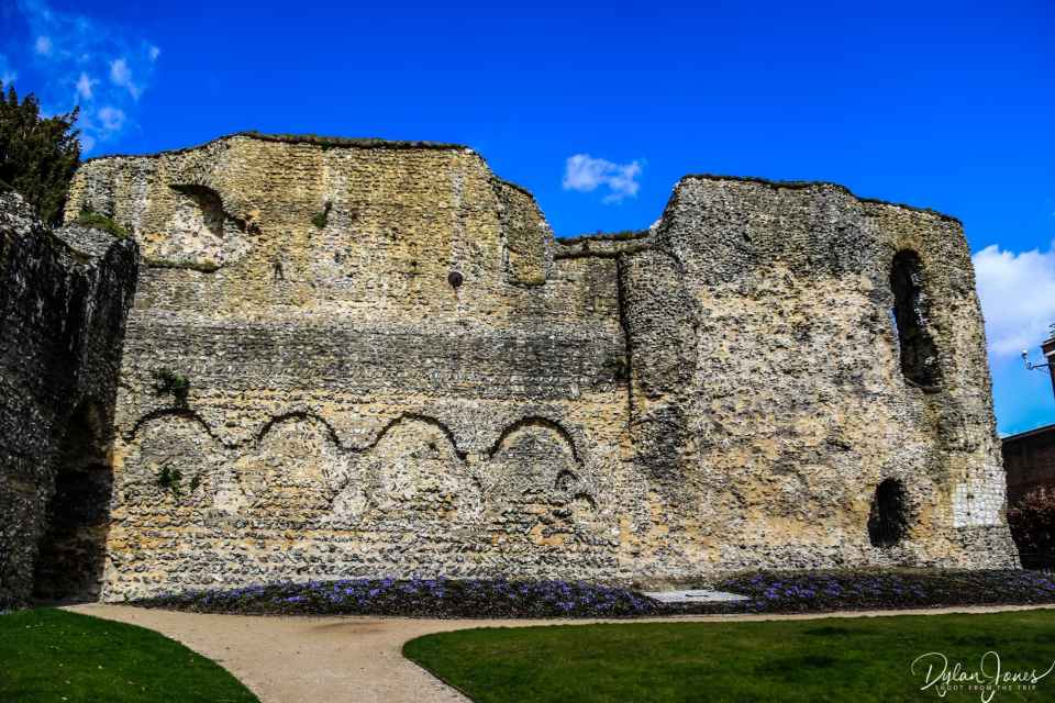 Historical details in the walls of Reading Abbey ruins