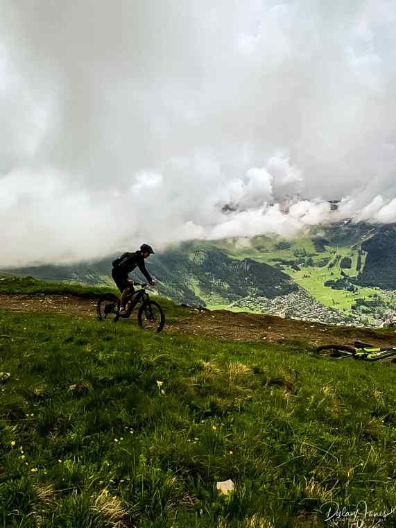 E-Biking high in the mountains