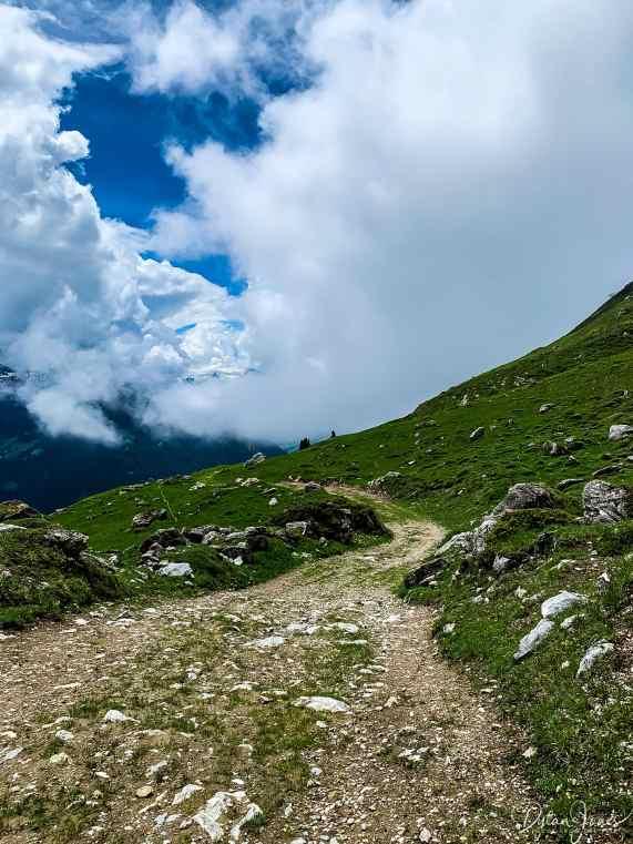 The biking trails above Verbier