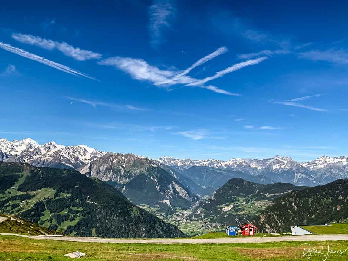 The perfect mountain top setting for a Yoga session during a Verbier Summer Break