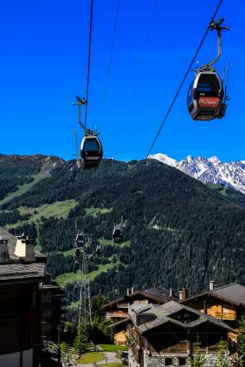 Mountain lifts from Le Châble to Verbier