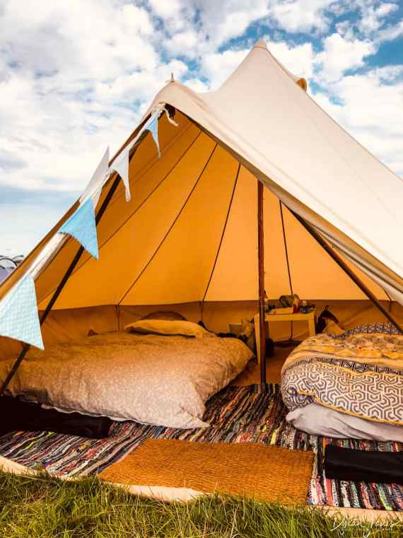 The Tangerine Fields Bell Tent at Deer Shed Festival 10