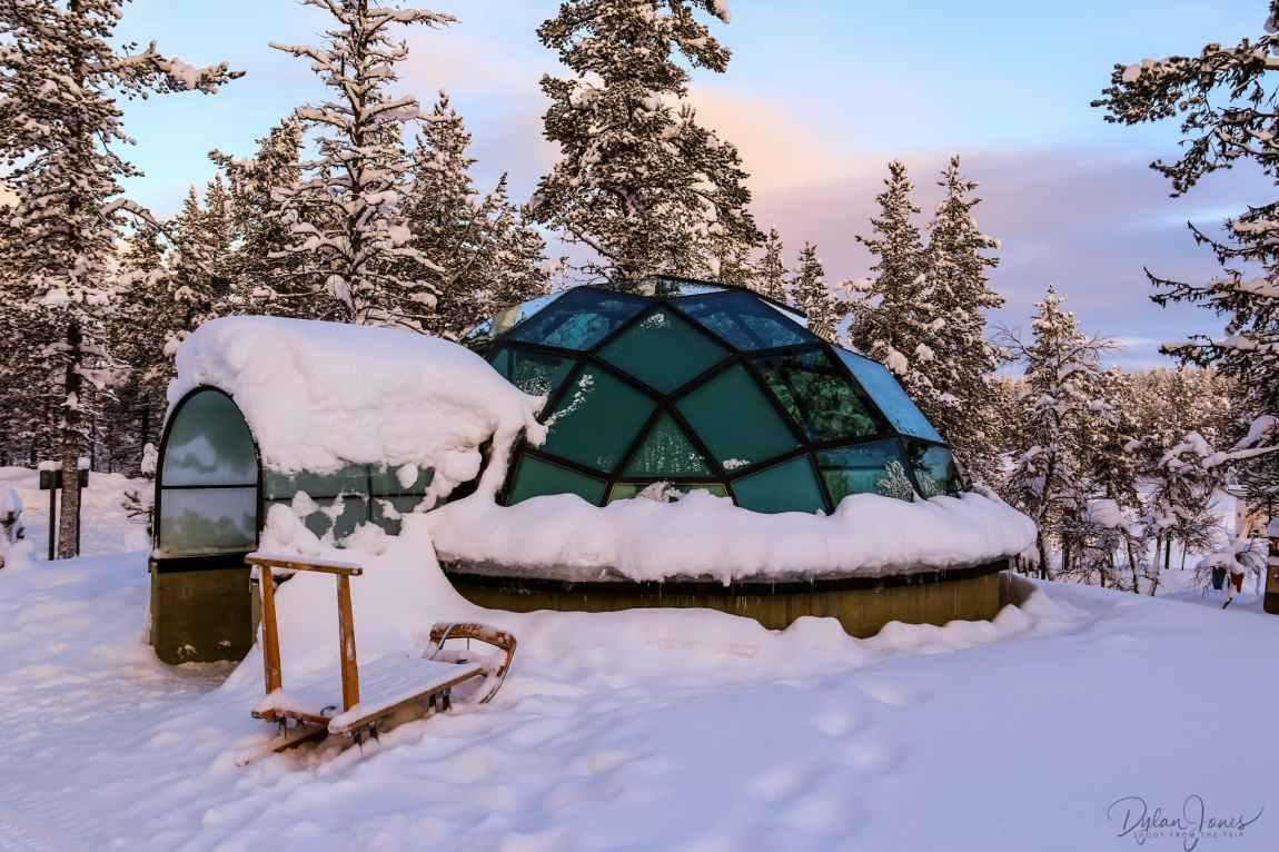The Glass Igloo at Kakslauttanen Arctic Resort