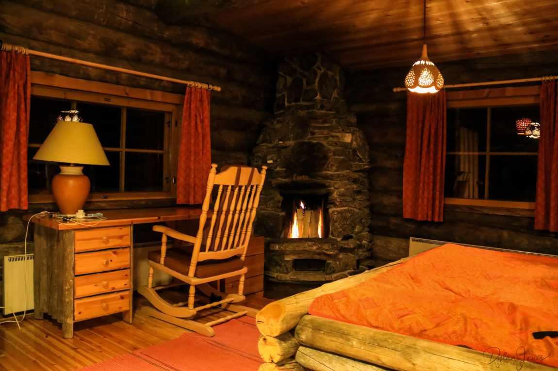 Cosy cabin scenes at Kakslauttanen Arctic Resort