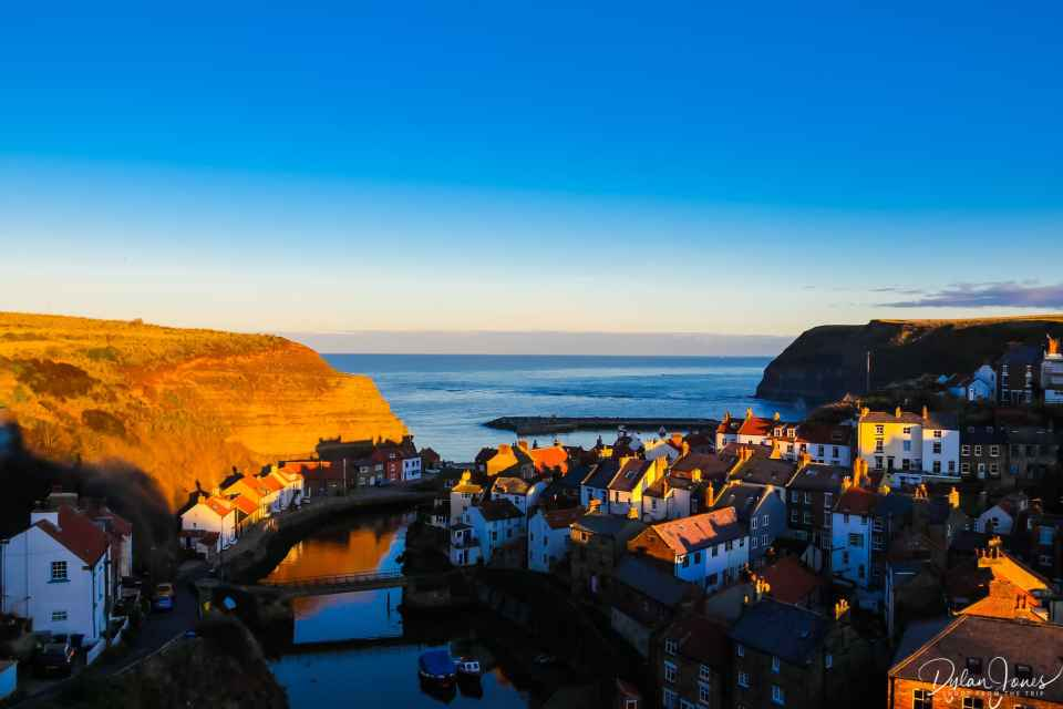 Staithes Harbour view from Cowbar Bank