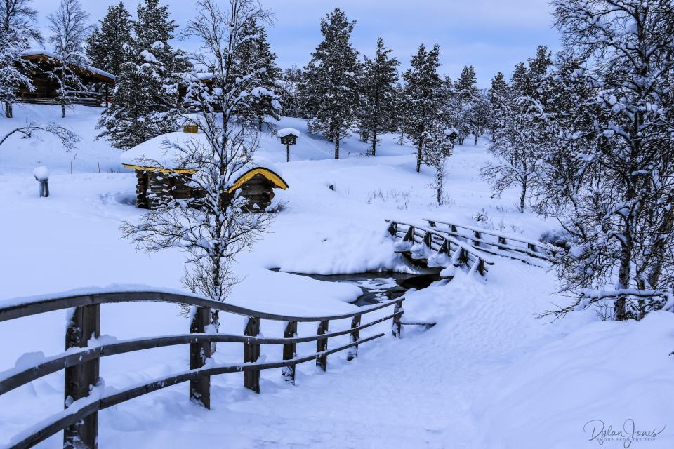Exploring the West Village at Kakslauttanen Arctic Resort