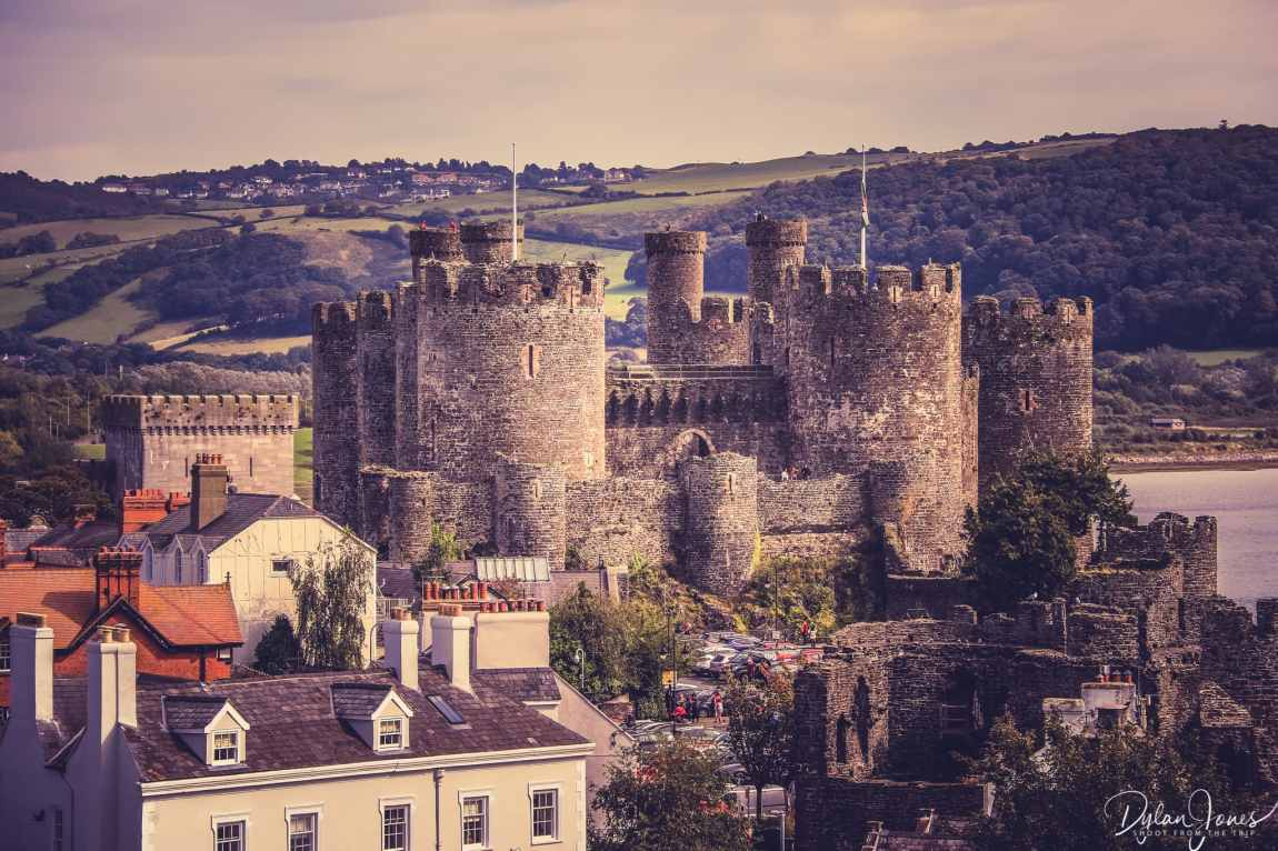A view of Conwy Castle from the town walls