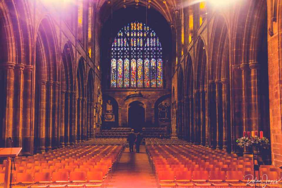 The stunning interior of Chester Cathedral during a Chester sightseeing trip