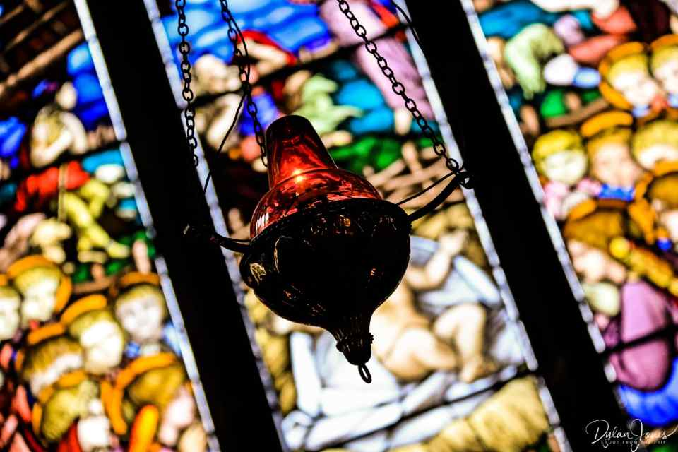 Chester cathedral stained glass and Thurible