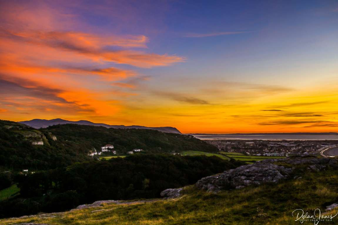 North Wales' epic sunset skies