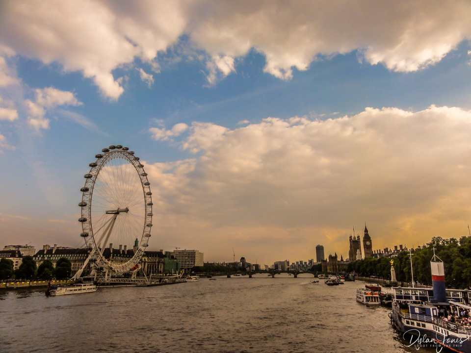 The London Eye and Westminster