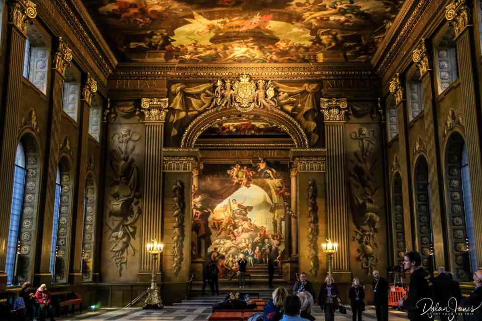 Stunning details of the Painted Hall