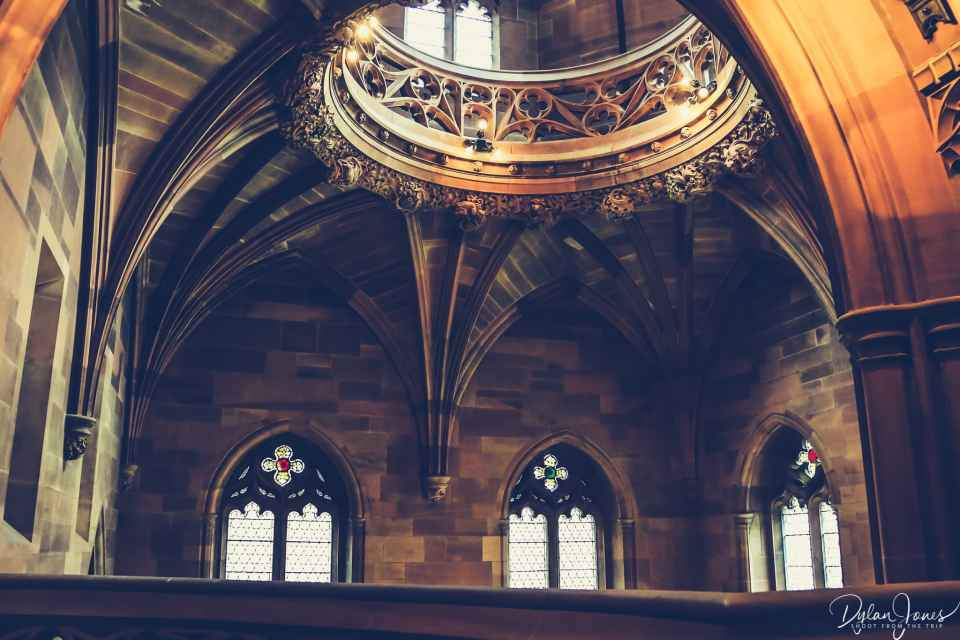 The Lantern Gallery above the main staircase of the John Ryland Library