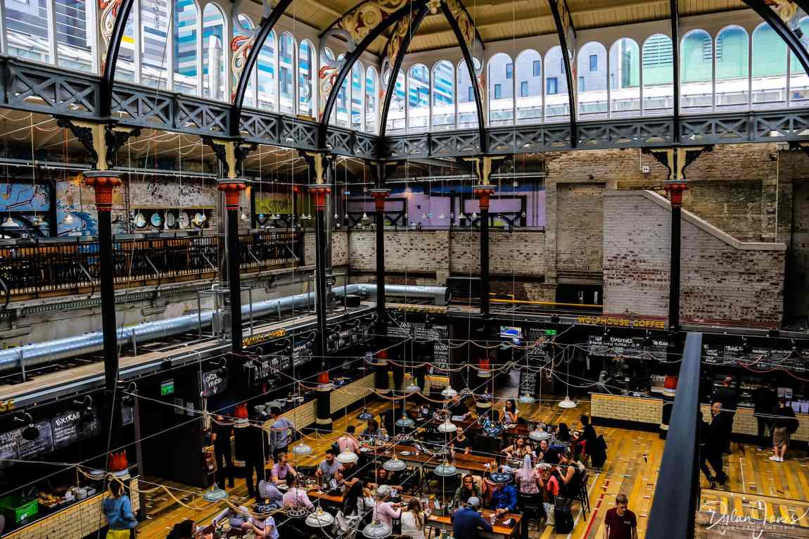 Food Hall at Mackie Mayor - a must visit during 48 hours in Manchester