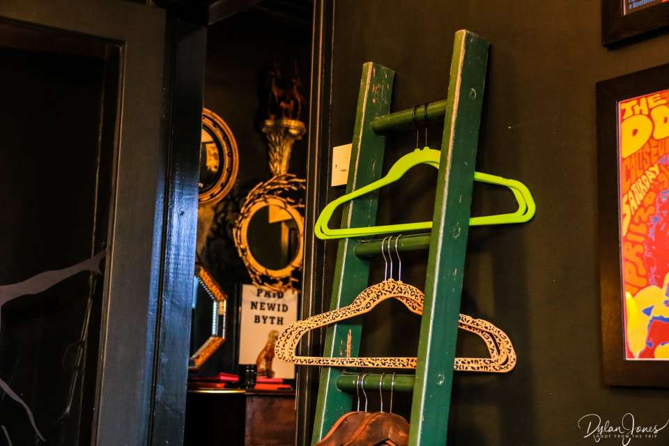 Clothes rail with a difference at the most Instagrammable accommodation in Conwy