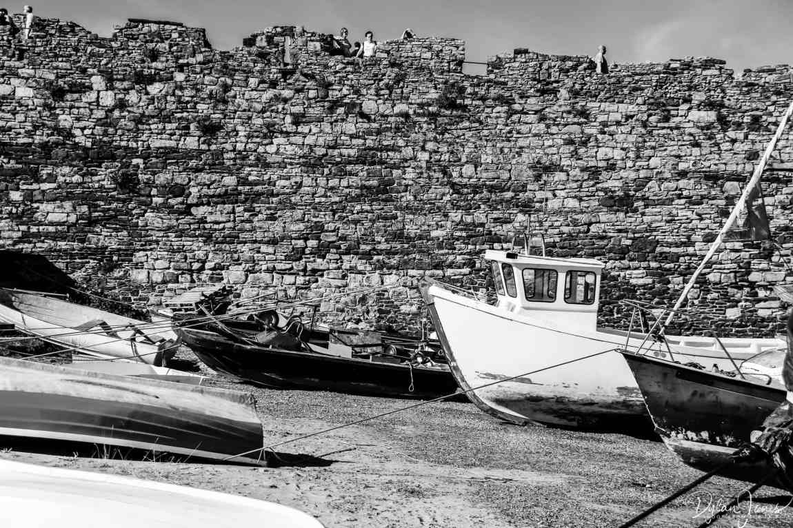 Fishing boats on the harbour beach