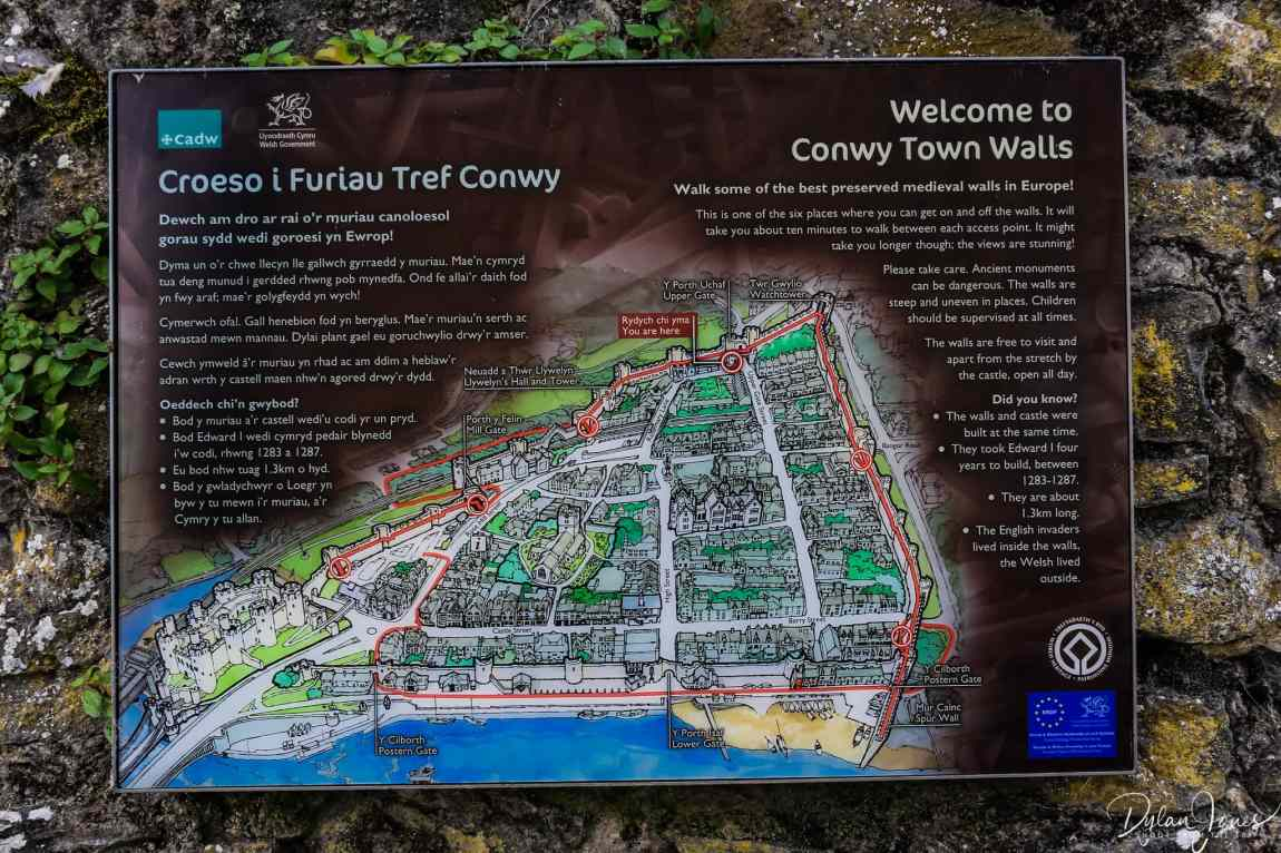 Things to do in Conwy - Conwy Town Walls map