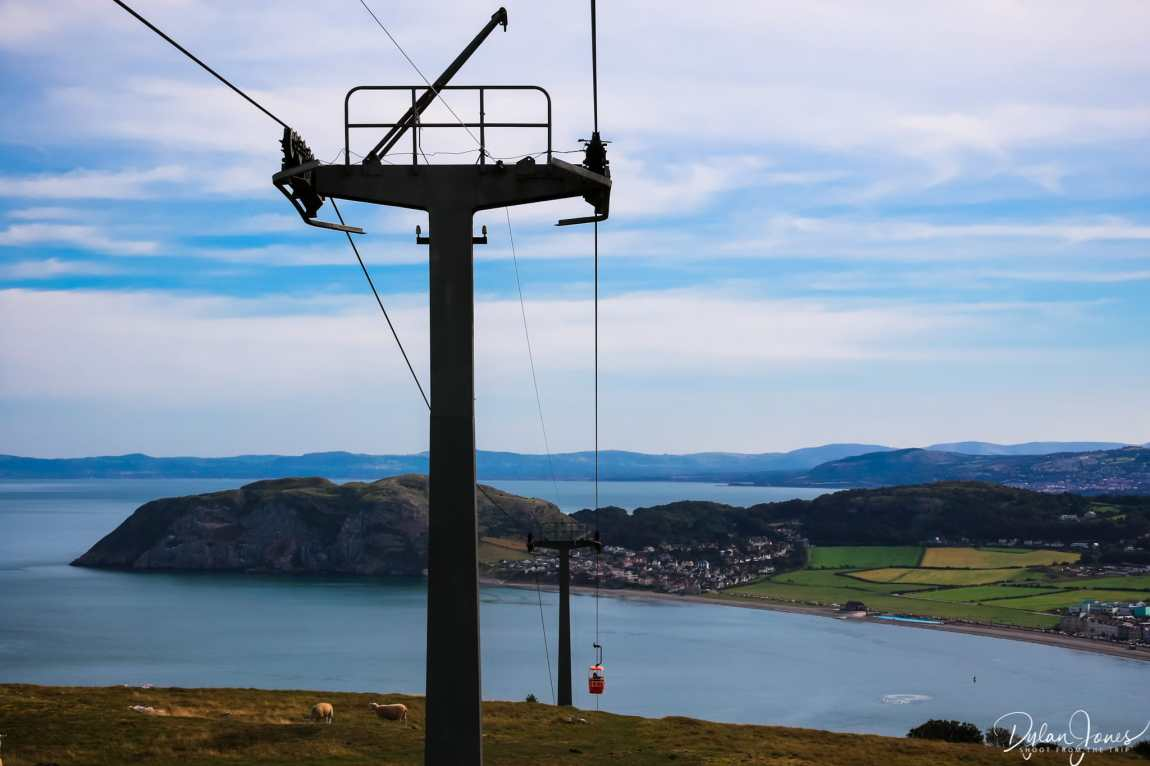 Coastal views from the Llandudno Cable Car, one of the popular attractions in Llandudno
