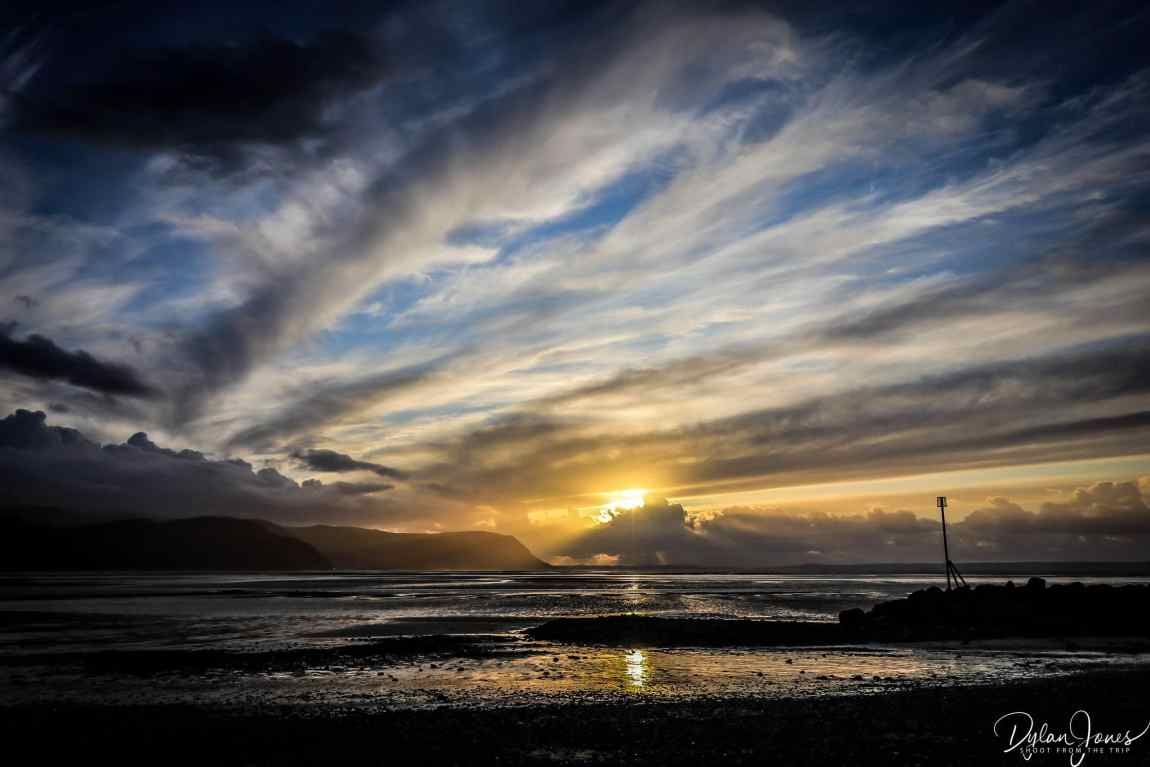 Dramatic sunset scenery from West Shore Beach