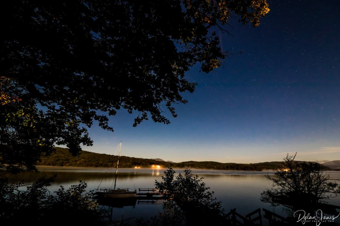 Starry night views across the lake from the Beech Hill Hotel & Spa