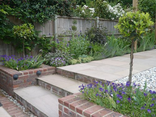 Sloping, long and thin garden - Shoot on Downward Sloping Garden Ideas id=18820