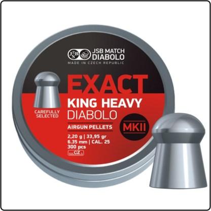 JSB Exact King Heavy .25Cal 33.95gr. MK2