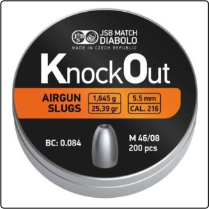 JSB KnockOut Slugs .216 25.39gr.