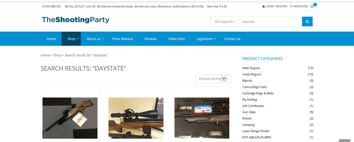 THE SHOOTING PARTY LAUNCHES NEW 'SMART'  WEBSITE