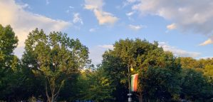 Indian Flag at the Ben Franklin Parkway