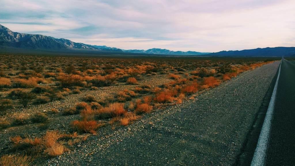 Las Vegas Nevada to Death Valley California.