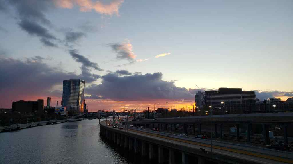 Sunset. I-76 Philadelphia.