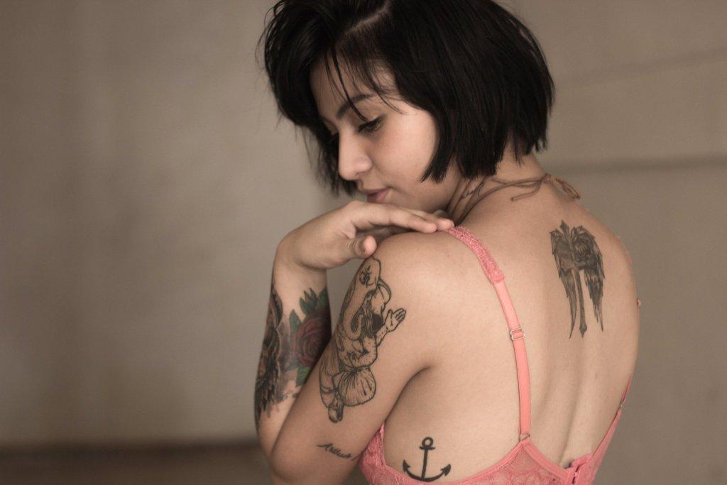 Tattooed model