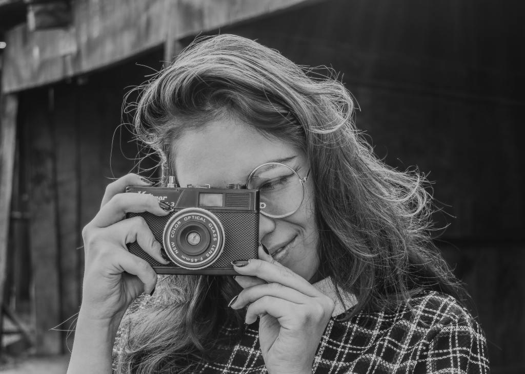 Black and white camera.