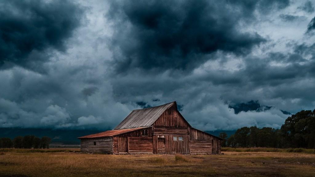 Dark Clouds In Sky