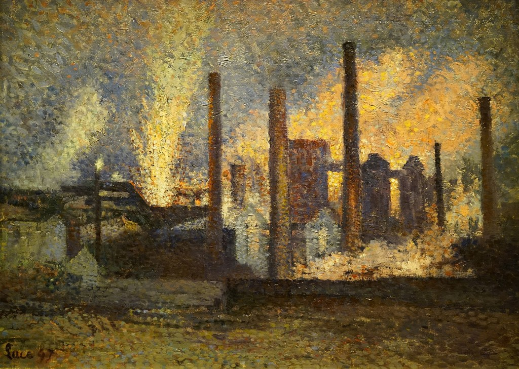 Impressionist industrial photo.