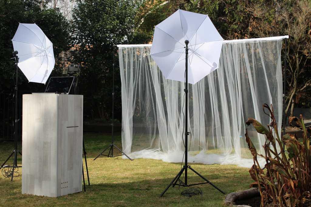 Outdoor photo studio.