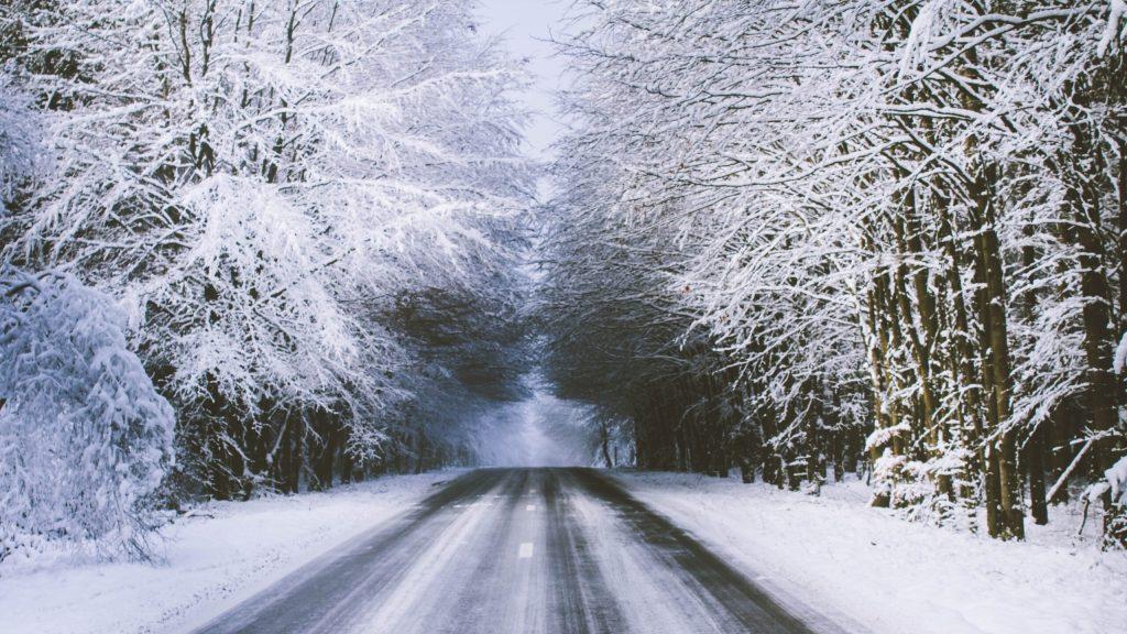 Snow Road Belgium