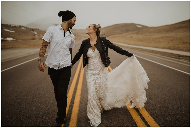 couple in street