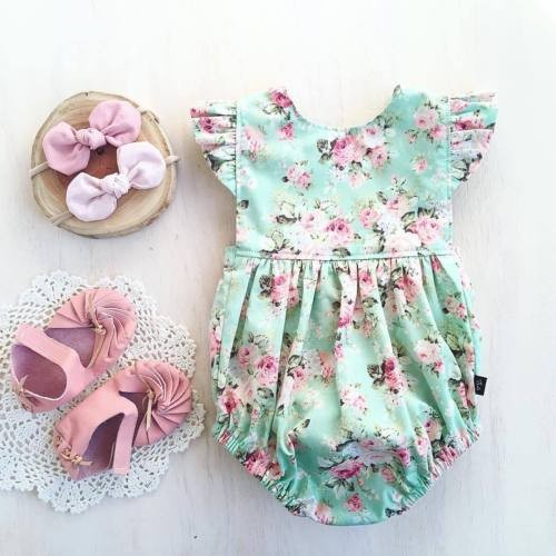 New Baby Girls Summer Clothes Ruffle Romper Bodysuit Playsuit Clothes Outfit