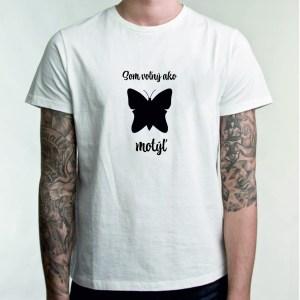 Som voľný ako motýľ biela