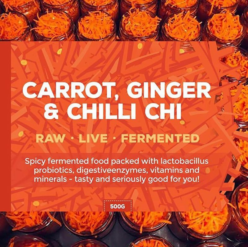 Jars of grated carrot with text on top raw live fermented