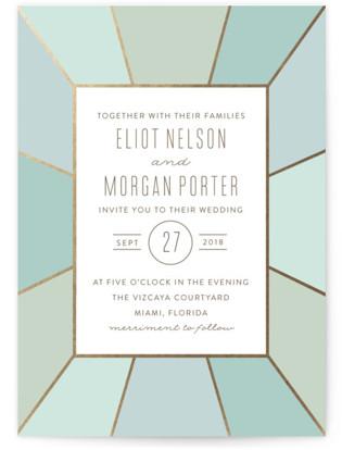 Pavilion Foil Pressed Wedding Invitations